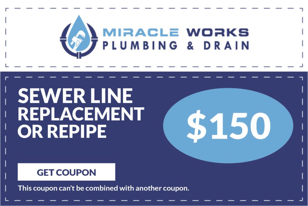 Sewer Line Repair & Replacement Coupons