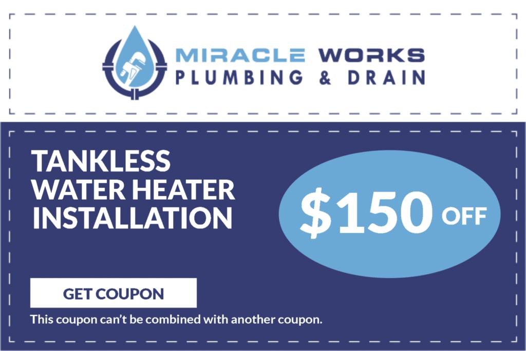 Tankless Water Heater Repair Coupon