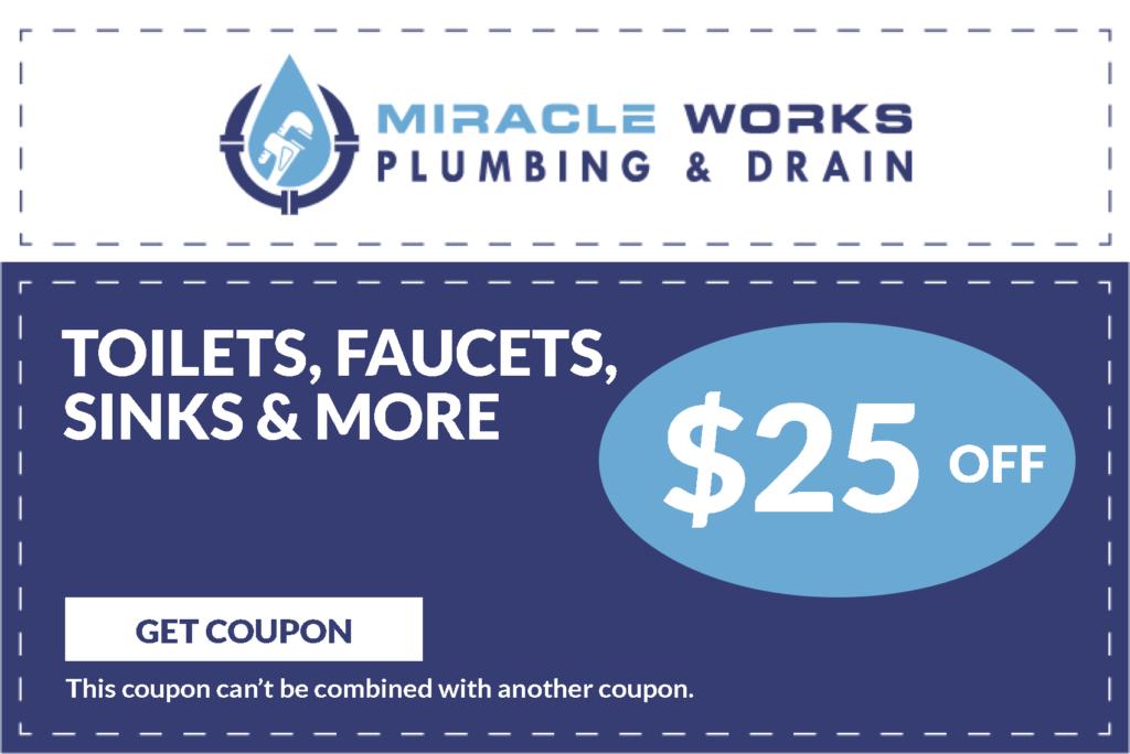 Toilet, Sink & Faucets Repair Coupon